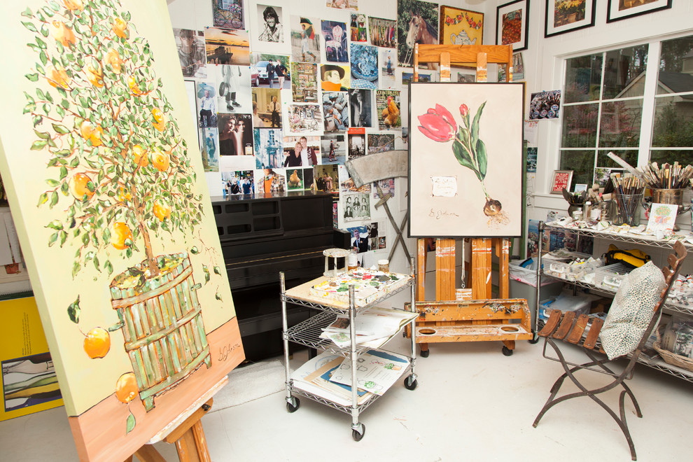 Kids Art Easel Home Office Traditional with Art Supplies Art Wall Artist Studio Cafe Chair Easel Fruit Tree Metal