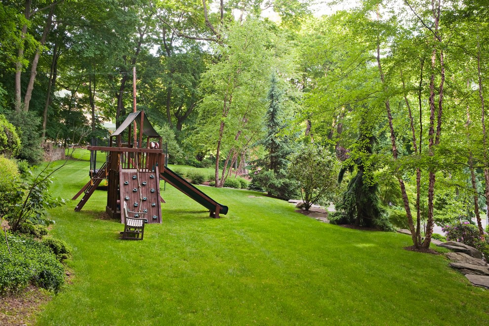 Kids Playset Landscape Traditional with Backyard Bushes Grass Kids Playset Lawn Natural Landscape Playground Playset Privacy Rock