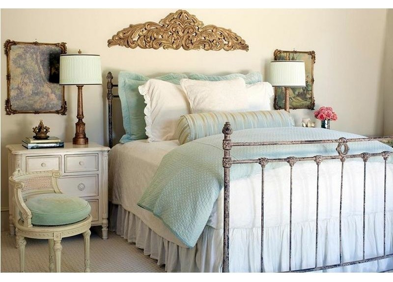 King Bedspreads Bedroom Traditional with Casted Iron Bed with Sussex Finials Iron Bed with Wreath Queen Wrought