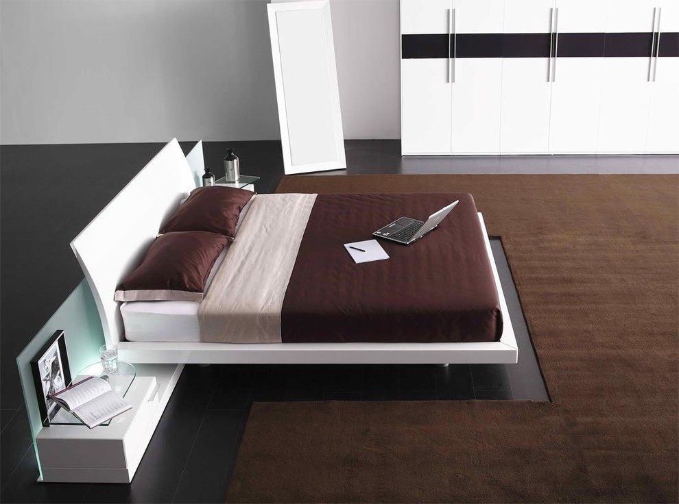 king koil mattress reviews Bedroom Contemporary with european style bed modern bed in white modern white bed stylish bed