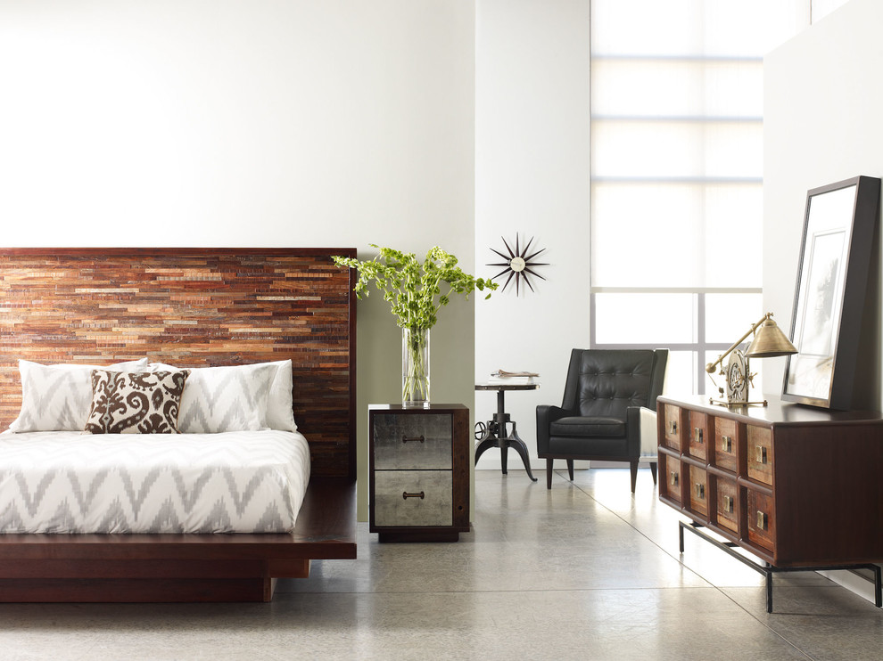 king platform beds Bedroom Industrial with none