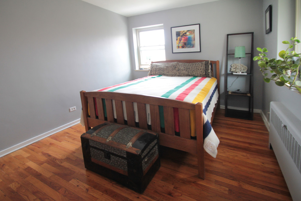 King Size Headboards Bedroom with Bedroom Southwestern Eclectic Bedroom Grey Walls Modern Southwestern Wood Floors