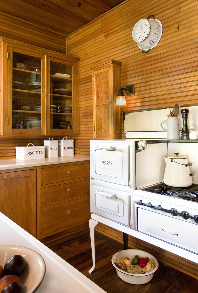Kitchen Canister Sets Kitchen Shabby Chic with Cabin Dark Wood Floor Food Storage Glass Cabinets Kitchen Storage Old Fashioned Stove