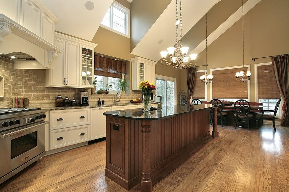 Kitchen Canister Sets Kitchen Traditional with Backsplash Countertop Custom Cabinets Flooring Granite Hardwood Flooring Kitchen Island Light Fixtures