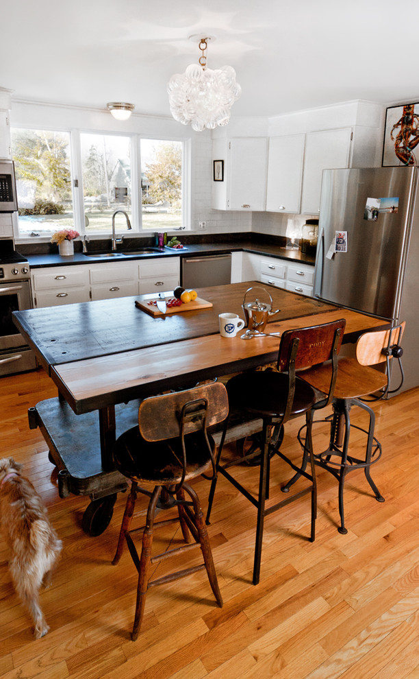 Kitchen Carts and Islands Kitchen Eclectic with Antiques Bin Pulls Breakfast Bar Eat in Kitchen Industrial Kitchen Cart Kitchen