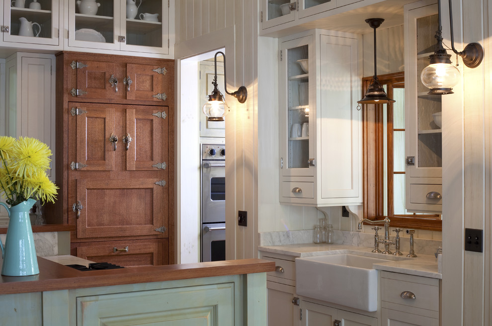 Kitchen Drawer Pulls Kitchen Beach with Apron Sink Farmhouse Sink Glass Front Cabinets Green Cabinets Ice Box Kitchen