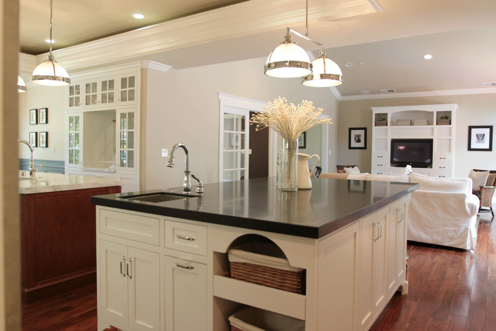 Kitchen Drawer Pulls Kitchen Traditional with Ceiling Lighting Great Room Kitchen Hardware Kitchen Island Neutral Colors Open Floor