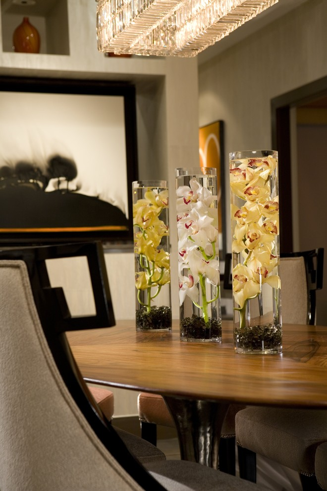 Kitchen Table Centerpieces Dining Room Contemporary with None