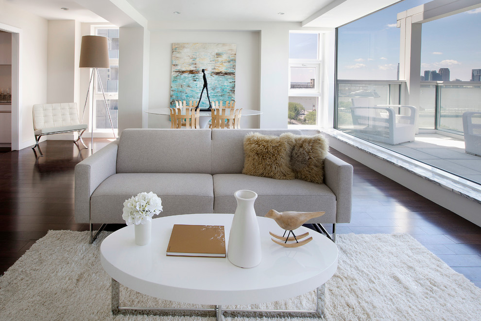 Kitchen Table Centerpieces Living Room Contemporary with Condominium Floor to Ceiling Windows Furniture Rentals Gray Sofa Home Staging Modern