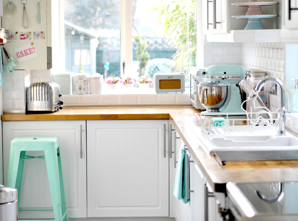 Kitchenaid Attachment Pack Kitchen Eclectic with Beadboard Cabinets Kitchen Pastel Pastel Colors Pillowed Tile Backsplash Small Kitchen Small