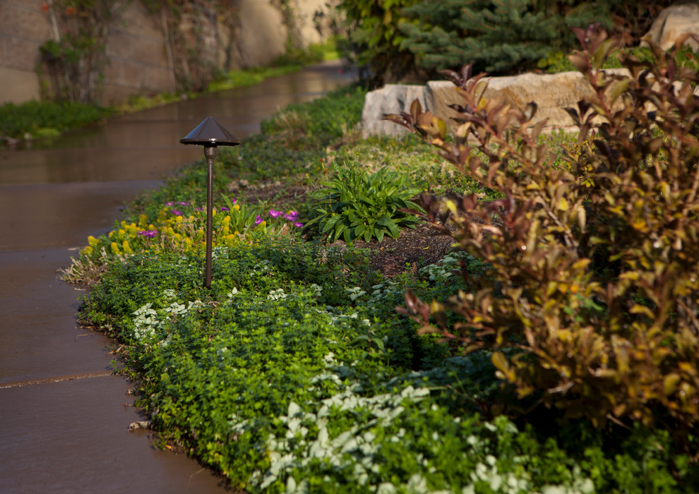 Kitchler Lighting Landscape Traditional with Concrete Pathway Groundcover Kitchler Lighting