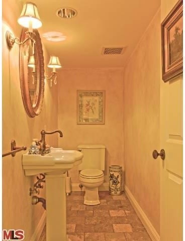 Kohler Devonshire Toilet Bathroom Traditional with Antique French Gold and Crystal Sconces Classic Contemporary Faux Painted Walls Kohler2