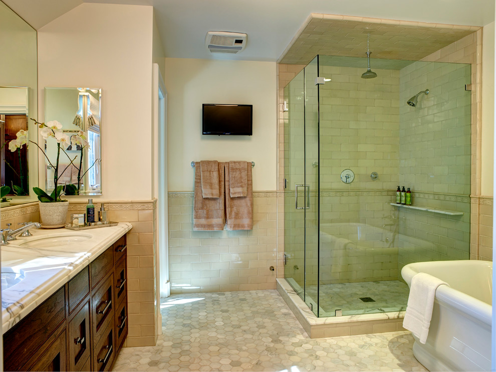 kohler-devonshire-toilet-Bathroom-Contemporary-with-accent-tile ...