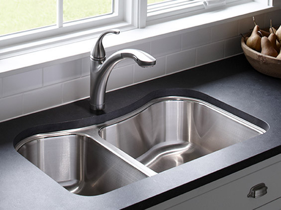 Kohler Forte Kitchen Contemporary with Sink