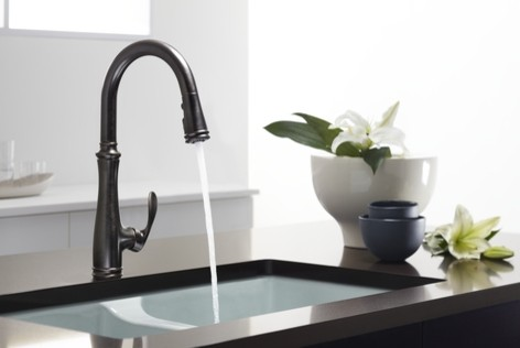 kohler kitchen faucets Kitchen Eclectic with bellera bellera faucet bronze bronze faucet Deerfield deerfield sink kitchen kitchen faucet