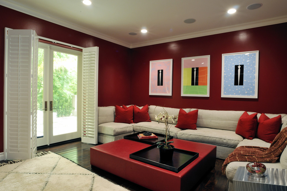 Konecto Flooring Home Theater Contemporary with Categoryhome Theaterstylecontemporarylocationlos Angeles