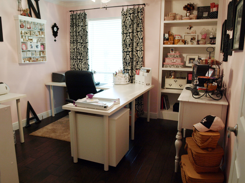 L Shaped Desks Home Office Traditional with Craft Room