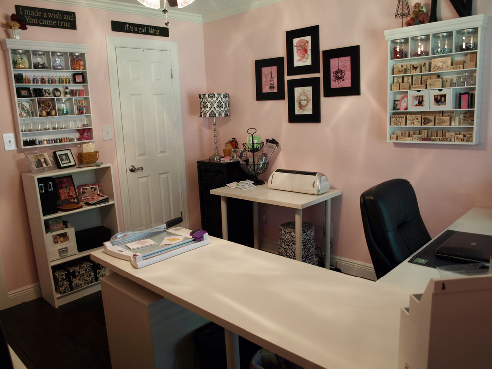l shaped desks Home Office Traditional with none