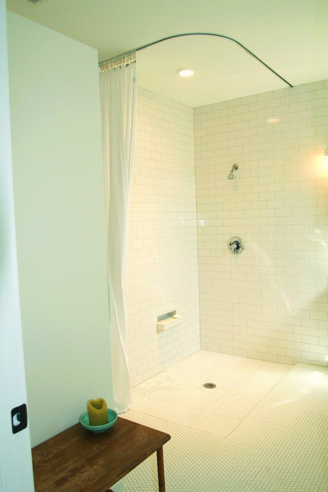 L Shaped Shower Rod Bathroom Modern with Categorybathroomstylemodernlocationaustin