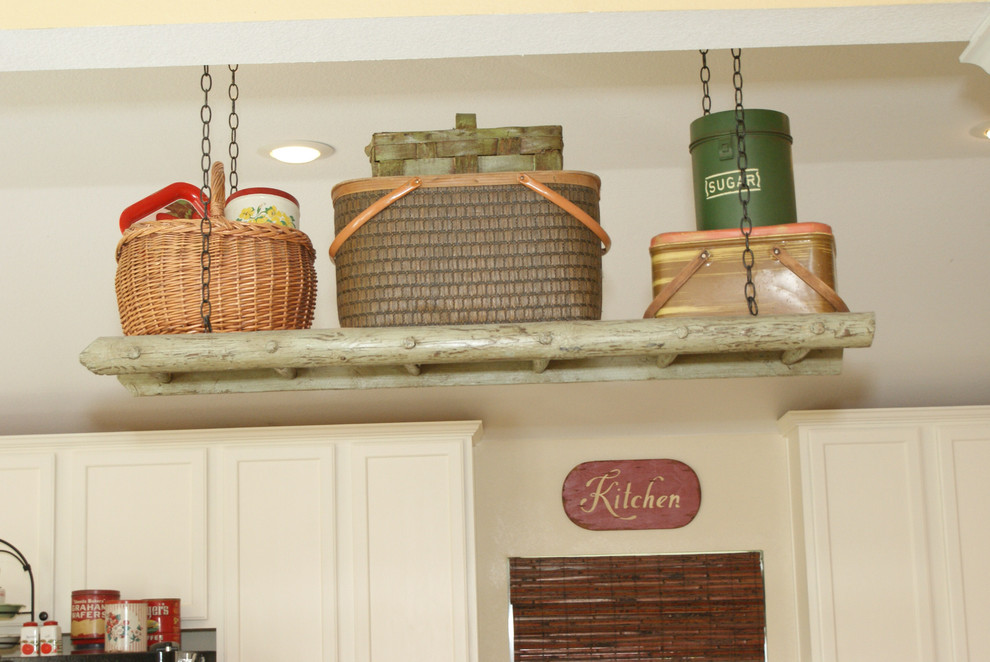 Ladder Shelf Kitchen Traditional with None