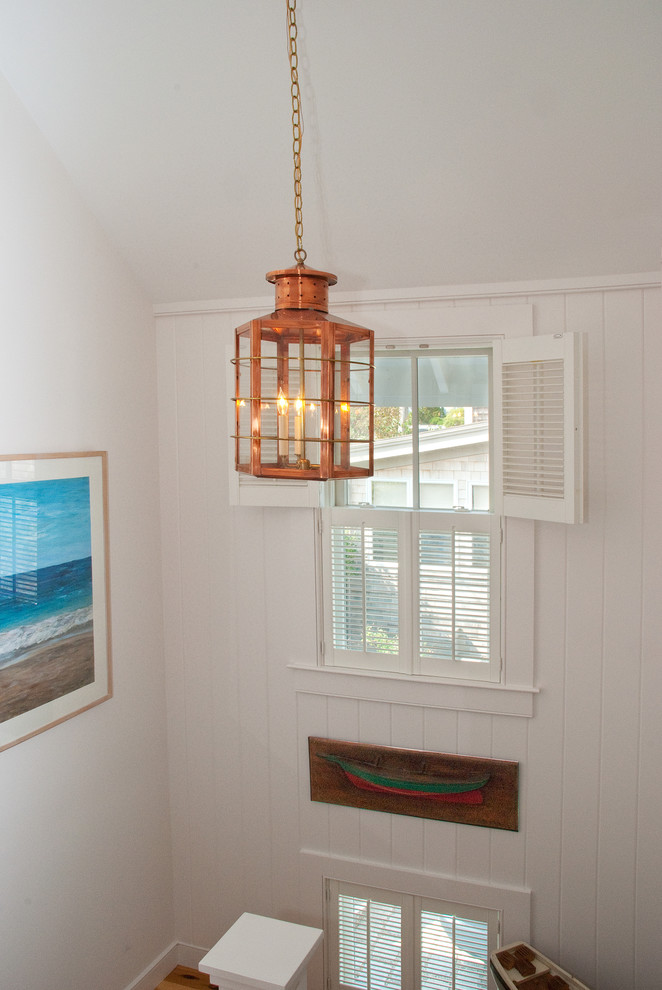 Lantern Chandelier Staircase Beach with None