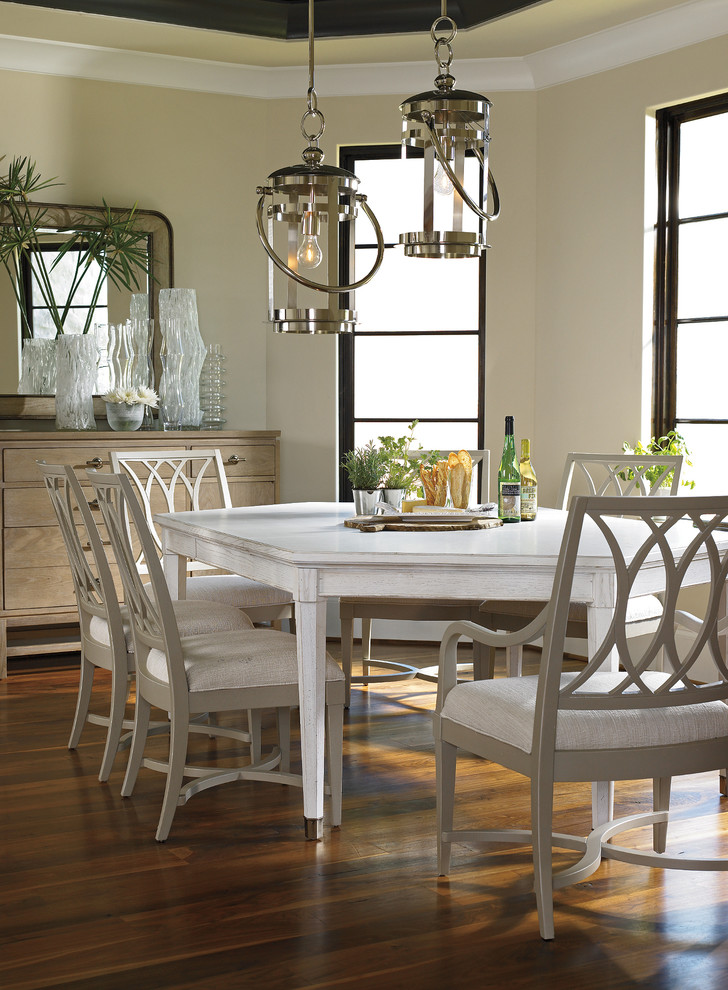 Lantern Pendant Light Dining Room Traditional with Beige Dining Chair Coastal Living Resort Dining Room Heritage Coast Dining Chairs