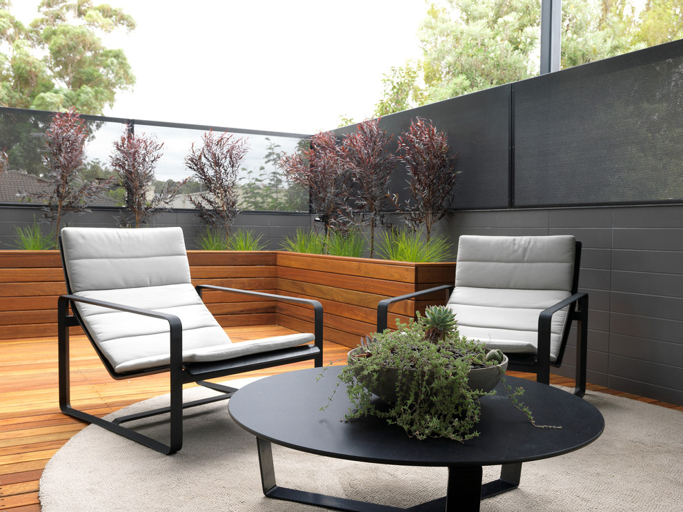 Large Outdoor Planters Patio Contemporary with Black Coffee Table Box Planter Grasses Gray Wall Horizontal Planks Lounge Chairs