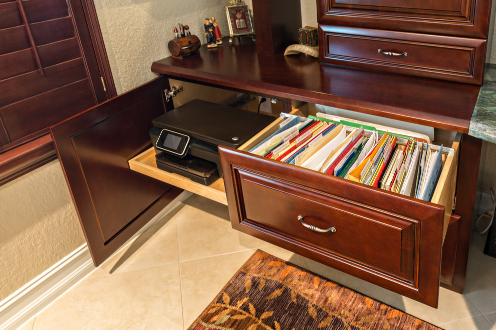 Lateral file cabinet home office traditional with built in Built in study desk