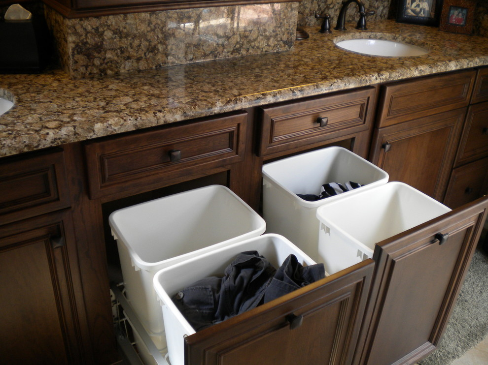 Laundry Sorter Bathroom Traditional with Cabinet Counter Curb Appeal Renovations Custom Granite Hamper Laundry