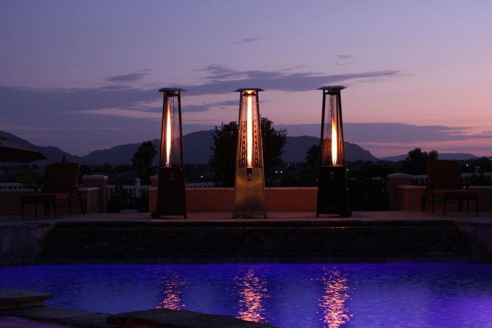 Lava Heat Italia Pool Traditional with Flame Heater Lava Heat Italia Natural Gas Heater Outdoor Heater Patio Heater
