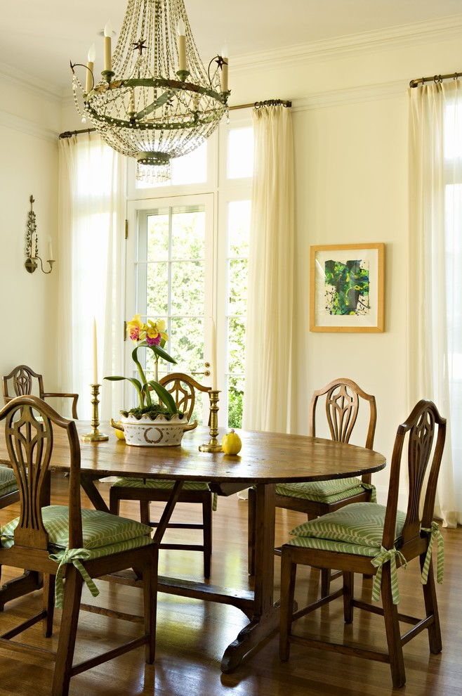 Lawn Chair Cushions Dining Room Traditional with Brass Candlesticks Breakfast Room Casual Casual Dining Room Chandelier Hardwood Floors Orchid