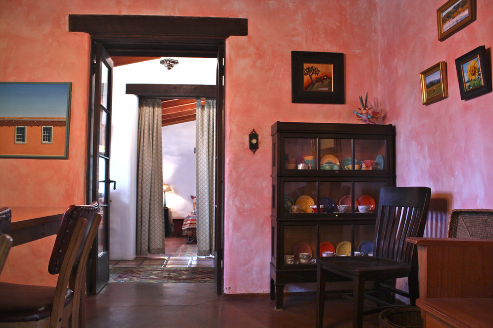 Lawyer Bookcase Dining Room Southwestern with None