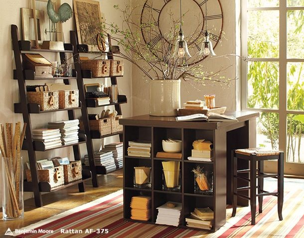Leaning Shelves Home Office Modern with None