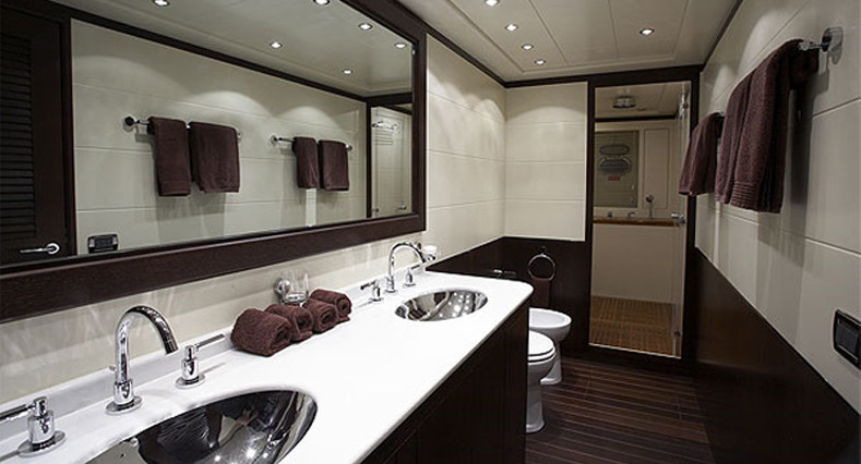 Leather Chaise Lounge Bathroom Contemporary with Dual Sinks Dual Vanity
