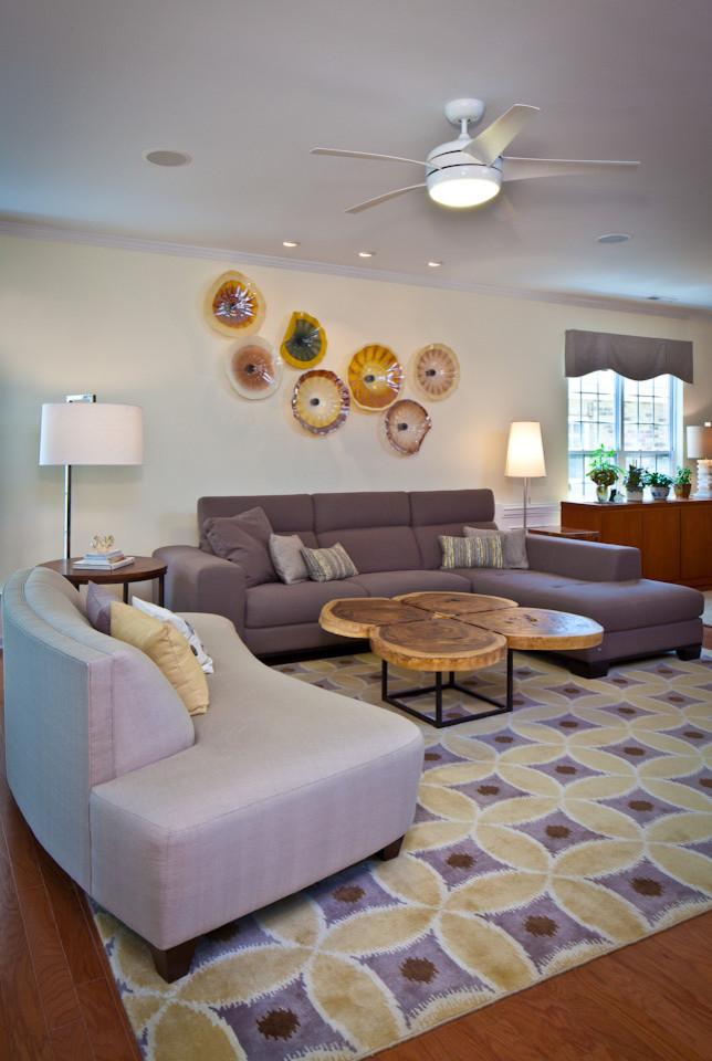 Leather Pouf Living Room with None