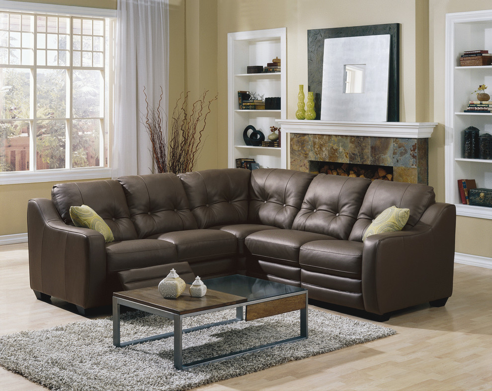 Leather Reclining Sectional Family Room Transitional with American Made Furniture American Made Leather Furniture Furniture Interior Design Details Leather