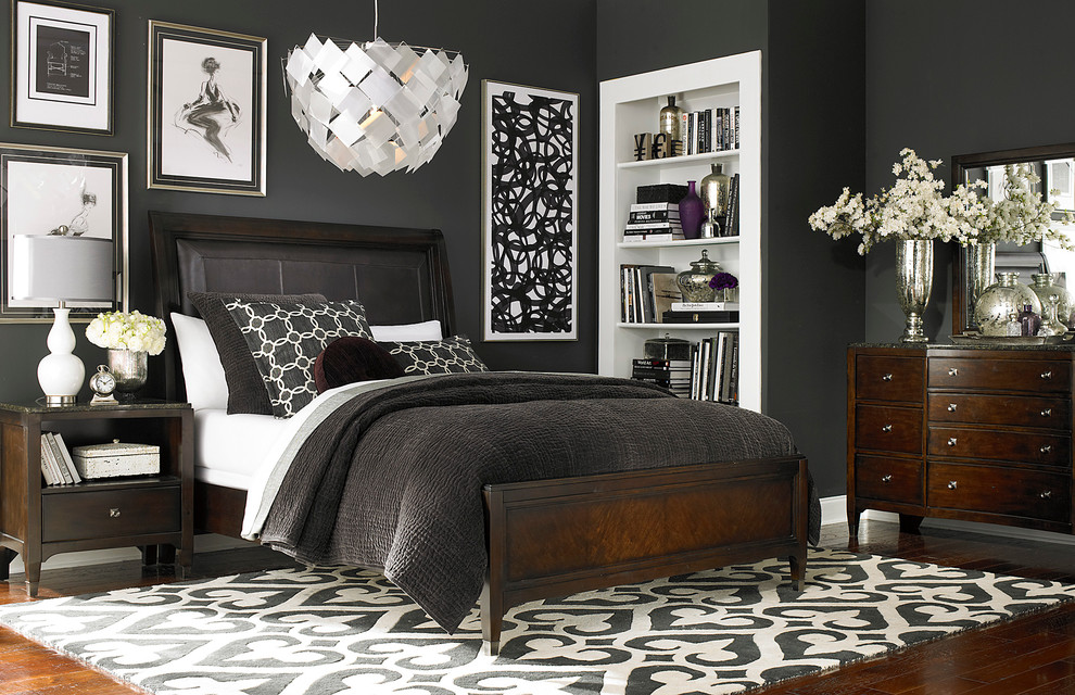 Leather Sleigh Bed Bedroom Contemporary with Bedroom Furniture Bedrooms Beds Headboard
