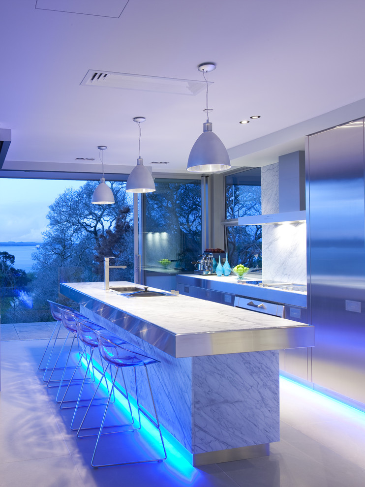 led outdoor flood lights Kitchen Contemporary with breakfast bar indoor outdoor kitchen island led liighting lucite lucite barstools marble