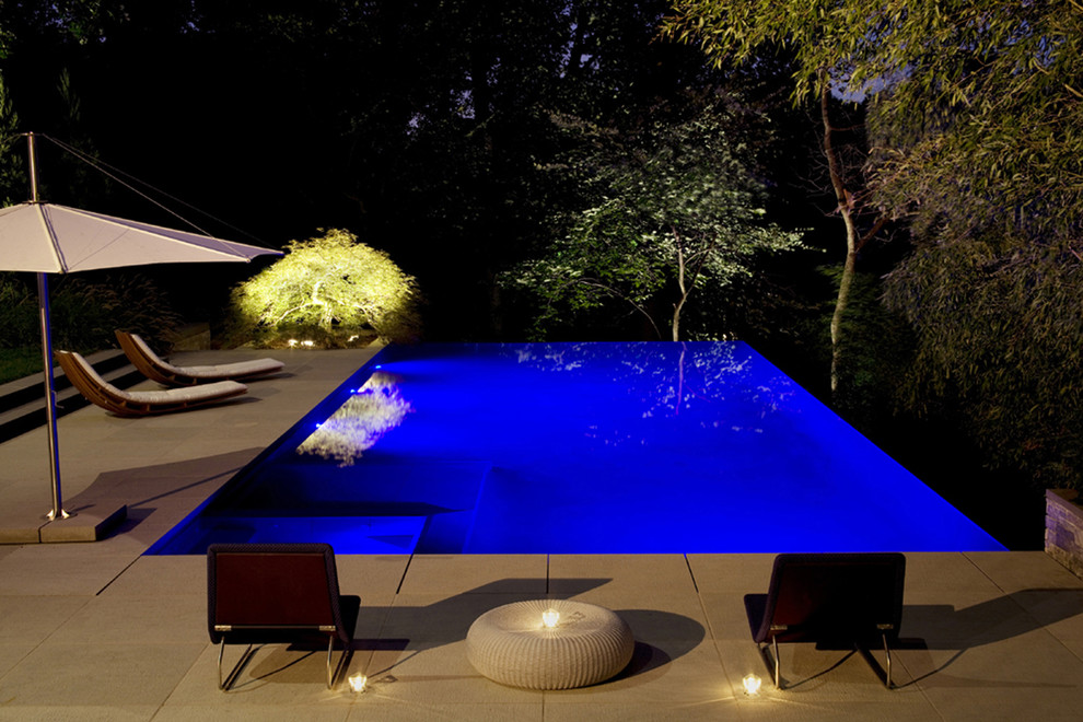 Led Outdoor Flood Lights Pool Modern with Aquascape Blue Blue Outdoor Candles Construction of Swimming Pool Curved Curved Chaise