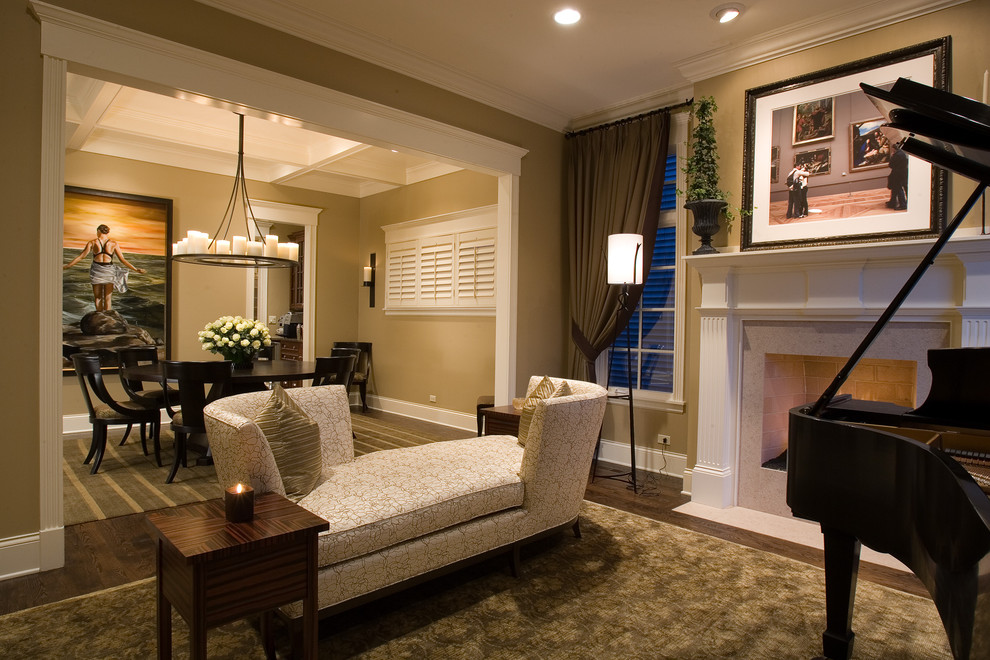 Lenox Dinnerware Living Room Traditional with Area Rug Baseboards Ceiling Lighting Chandelier Crown Molding Fireplace Mantel Fireplace Surround