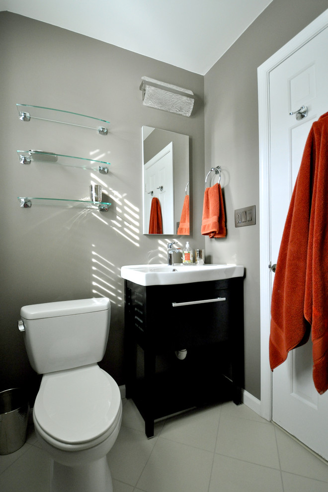 lighted-magnifying-mirror-Bathroom-Transitional-with-bathroom-brown ...