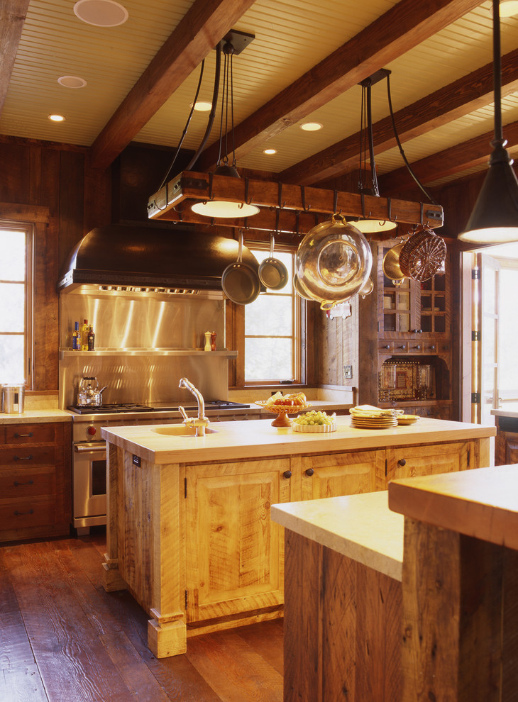 Lighted Pot Rack Kitchen Rustic with Cowboy Hood Kitchen Outdoor Pot Rack Ranch Rustic Stone Stove Weekend Wood
