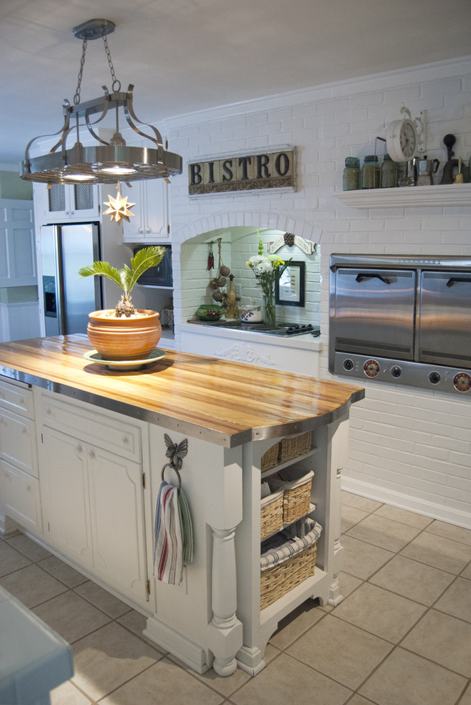 Lighted Pot Rack Kitchen Traditional with None