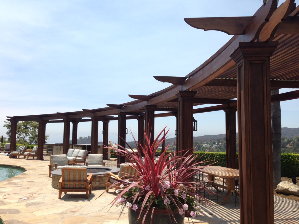 Linen Curtain Panels Patio Mediterranean with Categorypatiostylemediterraneanlocationlos Angeles