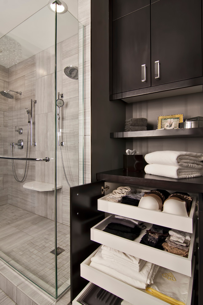 lingerie chest of drawers Bathroom Contemporary with closet organization closet system double shower dual shower handshower pullout drawers shower