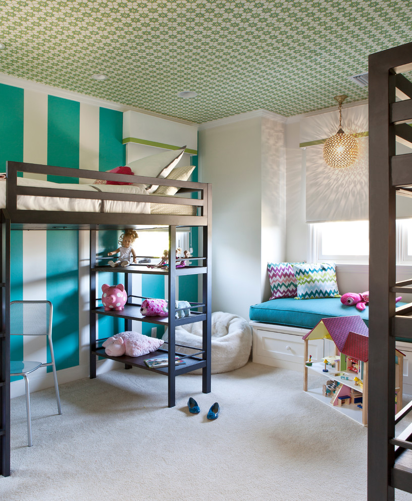 loft beds for teens Kids Transitional with bunk bed with desk bunk beds cornice box with grosgrain trim cornice