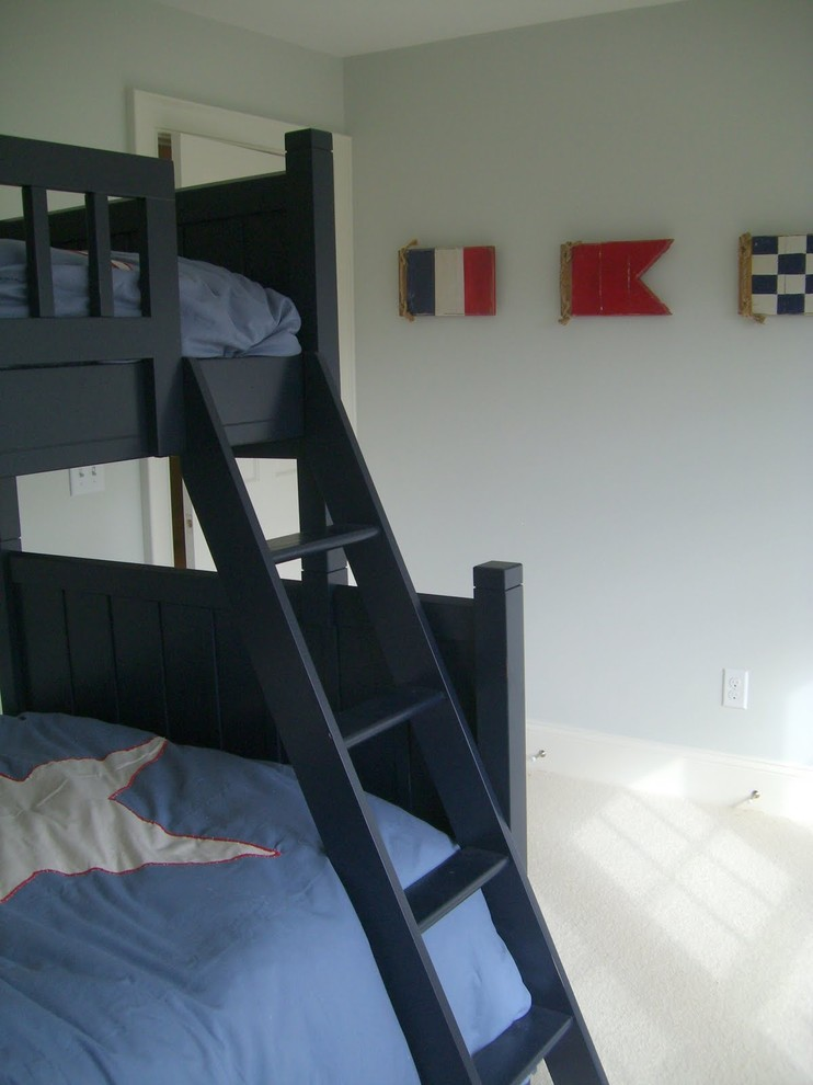 loft bunk beds Kids Beach with Boy's Room coastal flags loft bunk beds nautical red white blue room