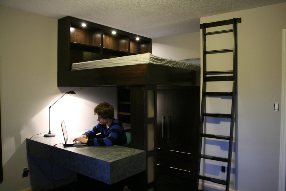 lofted bed Bedroom Traditional with 7 year old boys bedroom Bedroom boys bedroom cool boy bedroom idea