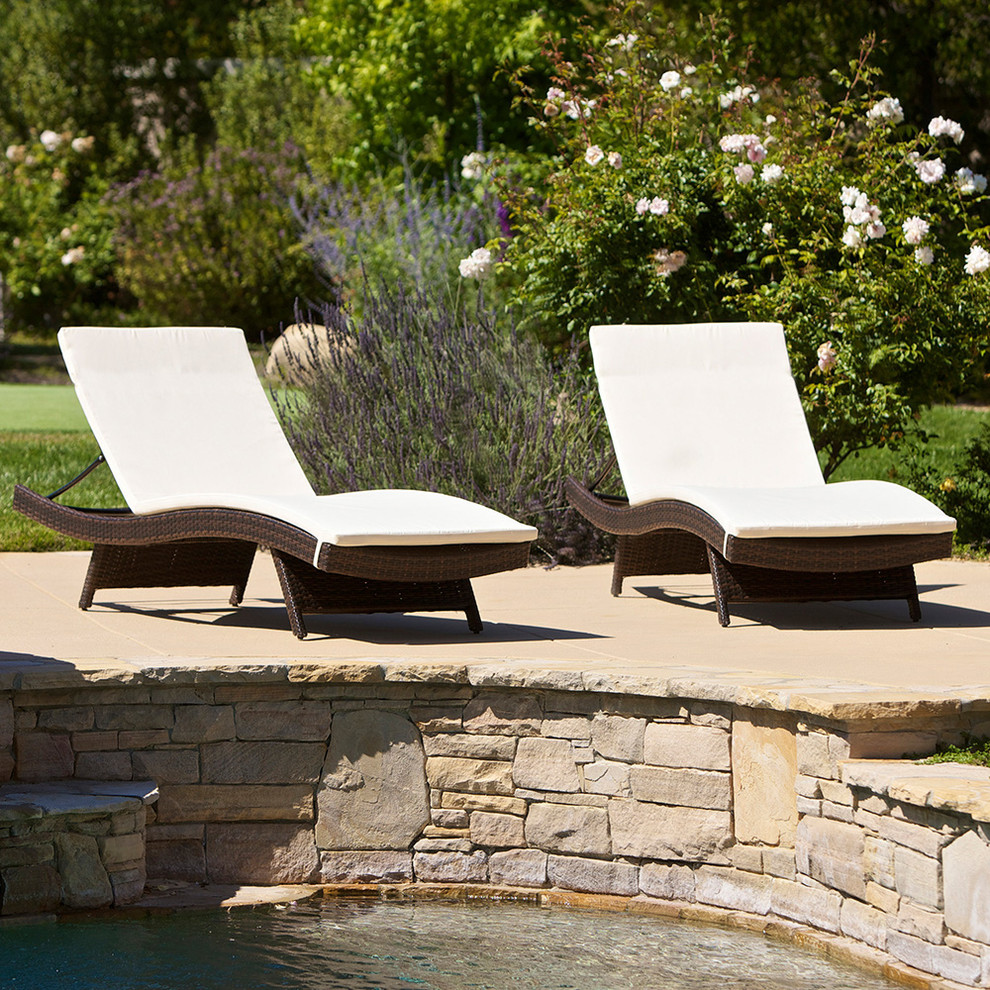 Lounge Chair Cushions Landscape Contemporary with Adjustable Angle Back Brown Wicker Chaise Lounge Chairs Cushions