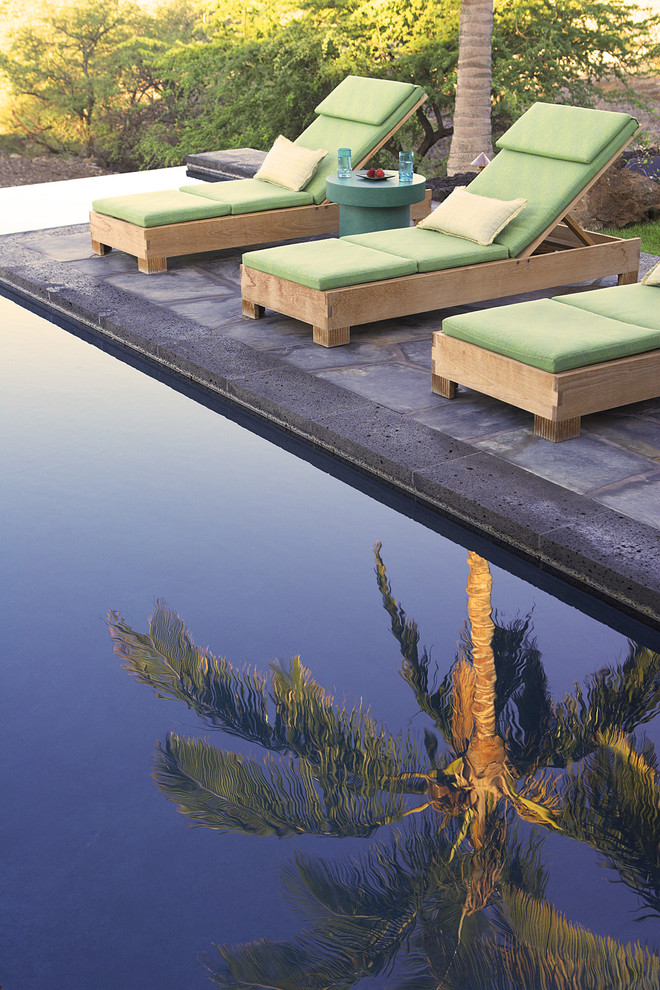 Lounging Chairs Pool Tropical with Chaise Longue Chaise Lounge Outdoor Cushions Palm Trees Patio Furniture Pool Coping